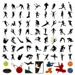Silhouettes of sportsmen — Stock Vector