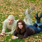 Couple on grass — Stock Photo
