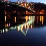 Foot bridge cross the Dniper river — Stock Photo #1397003