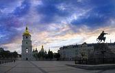площадь sophievskaya. киев, украина. — Стоковое фото