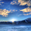 Stock Photo: Winter landscape in morning light