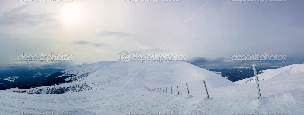 Wonderful panorama of Karpaty mountains. Dragobrat — Stock Photo #1684977