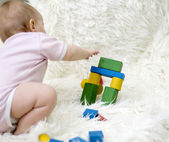 Child playing with a toy — Stock Photo