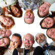 Happy team. Isolated. - Stock Photo