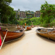 Boats on the berth — Stock Photo