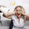 Royalty-Free Stock Photo: Office. Boss is screaming on secretary