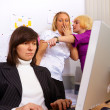 Stock Photo: Problems in office relationship