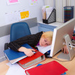 Stressed Business Woman - Stockfoto