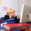 Business Woman in stress. - Stock Photo