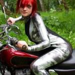 Biker girl — Stock Photo #1394260