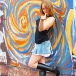 Street girl — Stock Photo