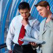 Two business men in problems — Stock Photo