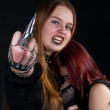 Goth girls. Fuck you — Stock Photo