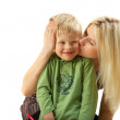 Happy family: Mom and son. — Stock fotografie