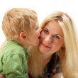 Happy family: Mom and son. - Stock Photo