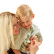 Happy family: Mom and son. — Foto Stock