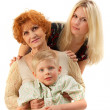 Family: Grandmother, Mother, Son. — Stock Photo