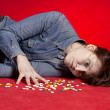 Royalty-Free Stock Photo: Suicide. Overdose of medicine.