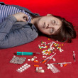 Stock Photo: Suicide. Overdose of narcotic.