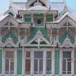 Stock Photo: RussiWooden historical building.