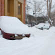 Car under snowdrift. Siberia - Stock Photo