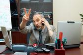 Successful Boss in work. — Stock Photo