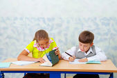 Elementary school. Testing... — Stock Photo