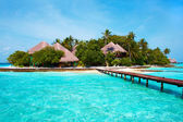 Ilha no oceano. paraíso! — Foto Stock