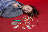 Suicide. Overdose of medicine. — Stock Photo
