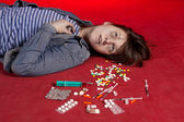 Suicide. Overdose of narcotic. — Stock Photo