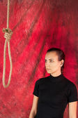 Suicide. Hanging... — Stock Photo