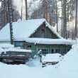 Russian village. Siberia. Cold Winter — Stock Photo