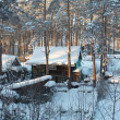 Stock Photo: Russivillage, Siberia. Cold Winter...