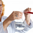 Chemist at work. - Stock Photo