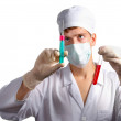 Doctor. Preparing injection. — Stock Photo #1400211