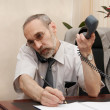 Royalty-Free Stock Photo: Office. Director. Phone call