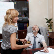 Royalty-Free Stock Photo: Boss and secretary. Close relations