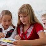scuola elementare. processo di apprendimento — Foto Stock