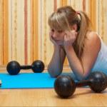"""entraînement de fitness vs """"sandwich"""" — Photo"""