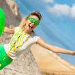 Cute girl in absolute summer positive! — Stock Photo