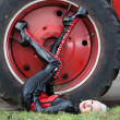 Stock Photo: Tyre fitting