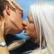 Hot summer kiss — Stockfoto