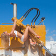 Royalty-Free Stock Photo: Hot and sexy on snowy dozer