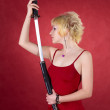 katana girl — Stock Photo