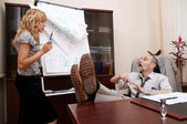 Discussion in office. — Stock Photo