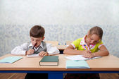 Elementary school. Test lesson — Stock Photo
