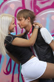 Lindo casal apaixonado — Foto Stock