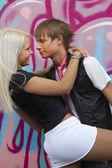 Cute para w miłości — Zdjęcie stockowe