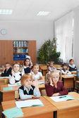 孩子在学校 — 图库照片