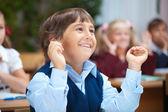 Szczęśliwy uczniak — Zdjęcie stockowe